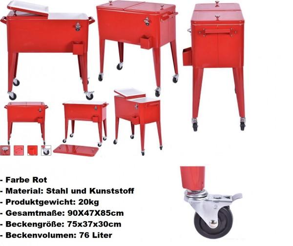 Servierwagen Kühlwagen Kühlbox Beistellwagen Getränkewagen Getränkekühler Getränkekühlwagen Eisbox E